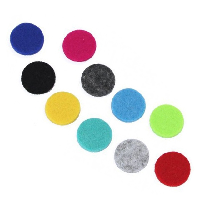 10x Aromatherapy Necklace Reusable Refill Pad - 25mm