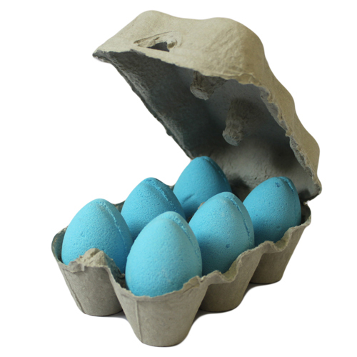 Box of 6 Bath Eggs - Blueberry - Blue (6x 50gm)