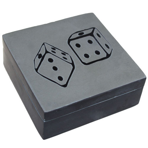 Lucky Stone Box - Two Dice