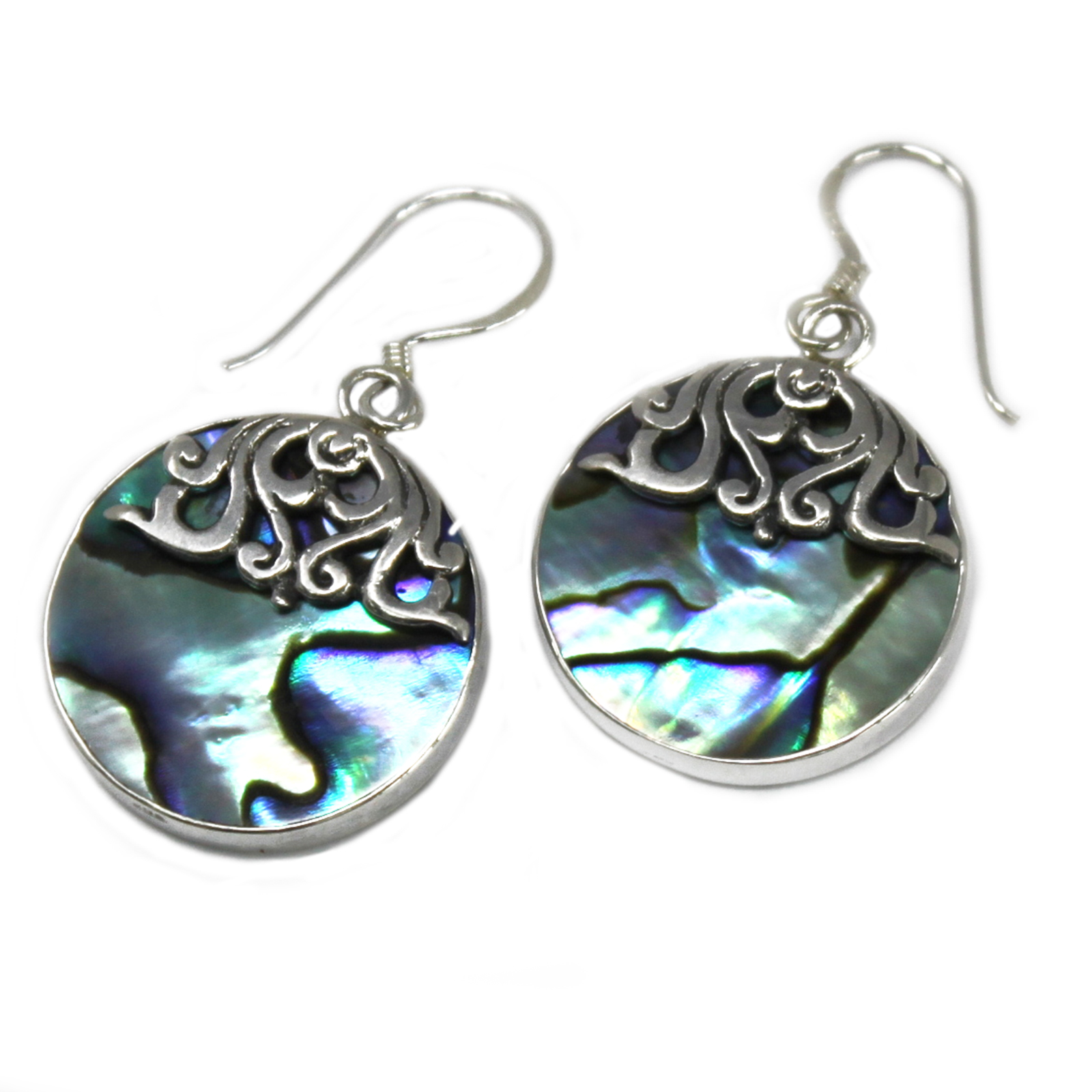 Shell & Silver Earrings